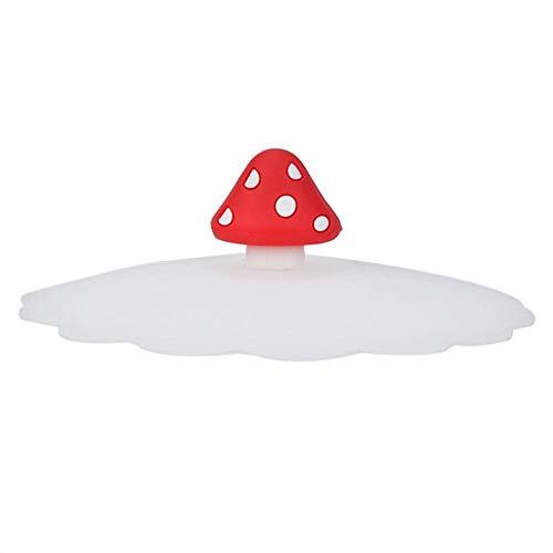 Tapa de silicona resistente al calor sellada a prueba de fugas tapa ecológica de dibujos animados Animal Universal Tapa a prueba de polvo creativo 20