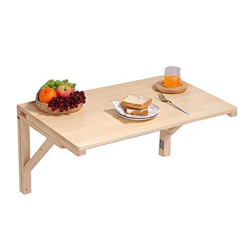 - Massief houten klaptafel, inklapbare eettafel, computertafel, wandplank, natuur (afmetingen: 50 x 30 cm) 60x40cm