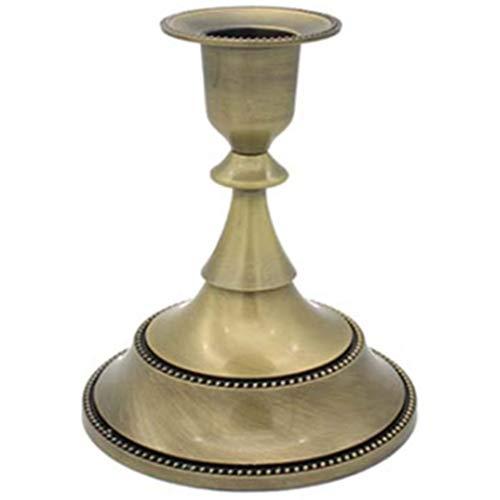 Andifany 1 Pieza Candelabros de Oro Retro Alto Bronce Plata Candelabros de Navidad Decoraciones de Boda Candelabros Europeos de Metal