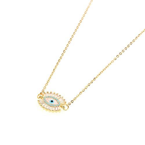 Pulsera Evil Eye Ojo de gato Cristal dorado Protección de la fe Joyería de la suerte para mujeres y niñas Días especiales de fiesta