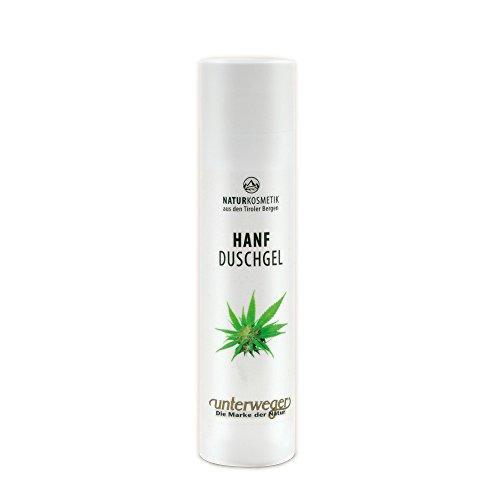 Unterweger HANF DUSCHGEL 250 ml für anspruchsvolle und empfindliche Haut NATURKOSMETIK mit Hanfextrakt aus biologischem Anbau.