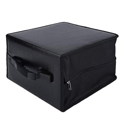 HEALLILY DVD Binder Case 400 Discs CD Opbergdoos Containers Video PU Lederen Portemonnee Tas Met Rits Grote Capaciteit Slijtvaste Koffer Houder Handtas - Zwart