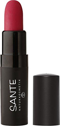 SANTE Naturkosmetik Lipstick Mat Matt Matte Lippenstift, 03 Velvet Pink, Matt-Effekt, Intensive Farbpigmentierung, 4,5g