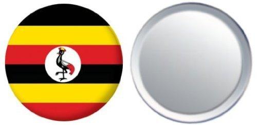 MadAboutFlags Spiegel Knopfabzeichen Flagge Fahne Uganda - 58mm