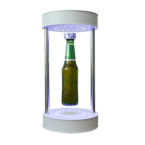 Angel&H Estante de Levitación Magnética Soporte Giratorio de Suspensión Magnética de 360 Grados con Luz LED Decoración Creativa para El Hogar Decoración del Centro Comercial