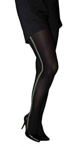 Marilyn ondoorzichtige panty met zijdelingse modieuze strepen 60 denier