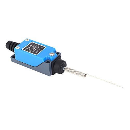 Interruptor de límite compacto NC-NO CNC Mill Router, 17,5 x 2,7 x 2,4 cm 50-60Hz ME-8169 Rodillo de bisagra larga de plástico y metal hecho