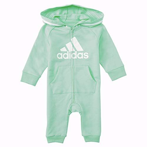 addias Girls and Baby Boys' Coverall, Mint Green, 12 Months