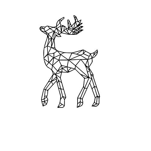 REGF Pegatinas de Pared de Cervatillo calcomanía de Vinilo de Animales geométricos decoración de habitación de niños decoración de Alce extraíble Arte Abstracto para el hogar