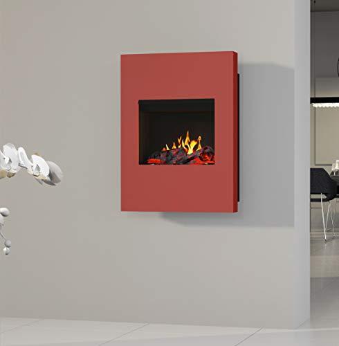 bergamo Venus Opti-myst – Chimenea eléctrica de pared, color rojo