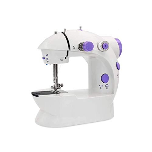 Sale!! Banwen Mini Portable Sewing Machine Adjustable Double Speed Crafting Mending Machine for Hous...