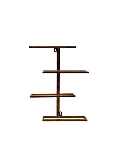 ZTBXQ Accueil Ustensiles de Cuisine Gadgets Casier à vin Mural rétro Style Industriel en Fer forgé Maison et Cuisine Bar Accessoires de décoration Multicolore Multi-Taille en Option (Couleur: Bronze