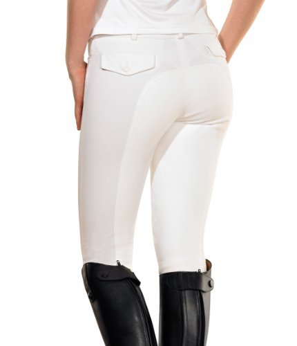 PFIFF Tina 100827-97-36 Pantalon Fond de Peau Femme Blanc 36