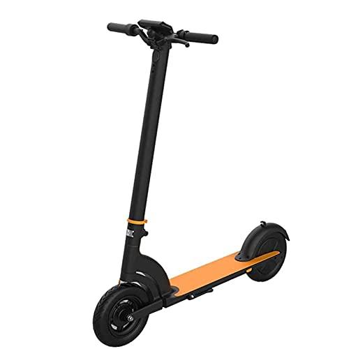 JAJU Scooter Plegable de Motor, Scooter eléctrico de Modo de 3 velocidades, neumáticos sólidos de 10 Pulgadas, hasta 30 mph, Pantalla LCD, Scooter eléctrico Plegable portátil para Adultos