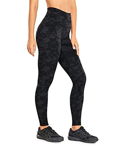 CRZ YOGA Mujer Tight Deportivas Leggins elásticas Cintura Alta para Yoga y Ejercicio-71cm La Niebla de Tinta de Humo 46