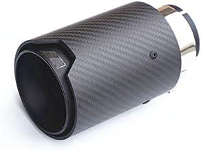 1 رایانه واقعی فیبر کربن مات سیاه و سفید نازک لوله اگزوز لوله صدا خفه کن برای BMW 2 3 4 5 سری F22 F23 F30 F31 F32 F33 F10 / F10 LCI / F11 / F11 LCI F12 / F13 ورودی 63 میلی متر ورودی با آرم: /// M
