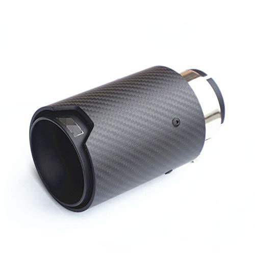 1 PC Real Carbon Fiber Matte Black Finish Car Exhaust Pipe Muffler Tips