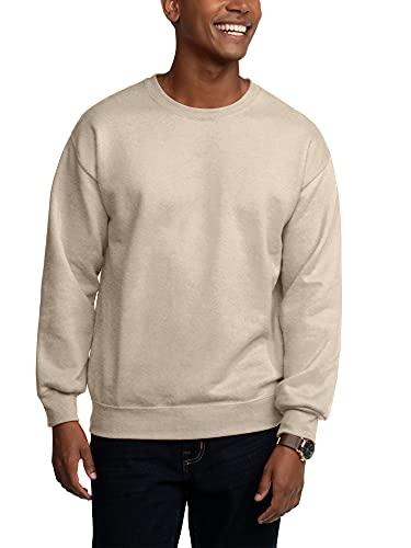 Fruit of the Loom Men's Eversoft Fleece Sweatshirts & Hoodies, Sweatshirt-Khaki Heather, Medium