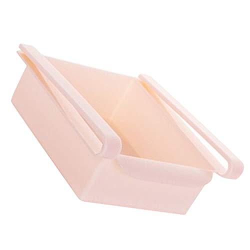Xinjieda 2 Piezas de plástico de la Cocina Refrigerador Congelador ahorrador del Espacio del Organizador del almacenaje del Estante del Estante del sostenedor del cajón
