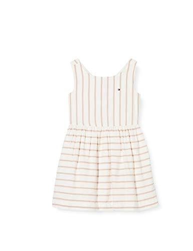 Tommy Hilfiger Fluro Fine Stripe Dress Slvls Vestido para Niñas