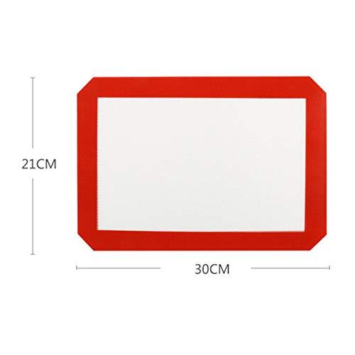 AXZXC Auflaufform 60 * 40 cm Backmatte Antihaft Silikon Pad Backblech Fiberglas Teig Pad Keks Makkaroni Gebäck Utensilien,1