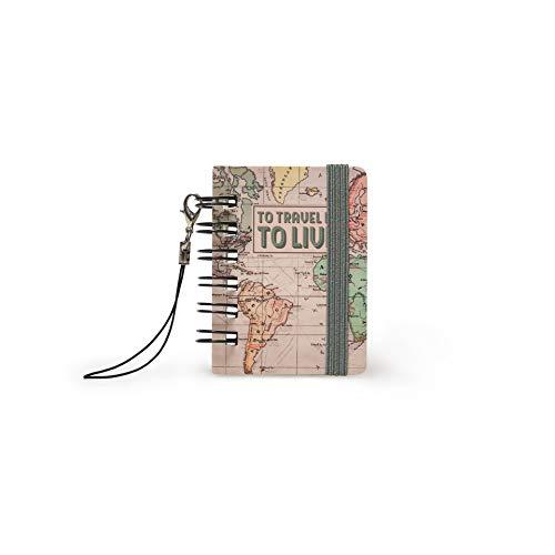 Legami MICRO0023 Notebook Micro, Map