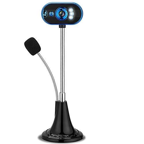 Nelomo Webcam Laptop Chat Cam Videokonferenz-System Kamera Laptop HD Nacht Lichter Rauschunterdrückung Mikrofon Clip-on 360 Grad Drehung Videokamera Plug and Play für Net Meeting