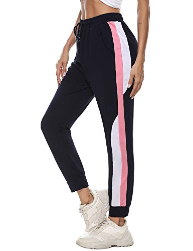 Aibrou Jogginghose Damen Sports Hose Freizeithose High Waist Sports Pants Trainingshose für Fitness, Running, Yoga, Wandern, Gym, Tanzen