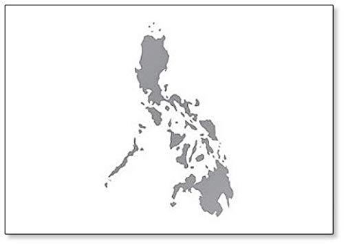 Kühlschrankmagnet, Motiv: Philippinen-Karte, Grau