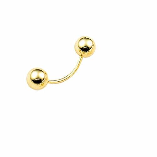 My Dream Day Elegante Krawatte Metall Kugel Perle verbogen Glänzende Mode Mode schöne Brosche Pins Rücken Schrauben Befestigungselemente auf Kleidung Pin Buchse Shirt Manschettenknöpfe EIN