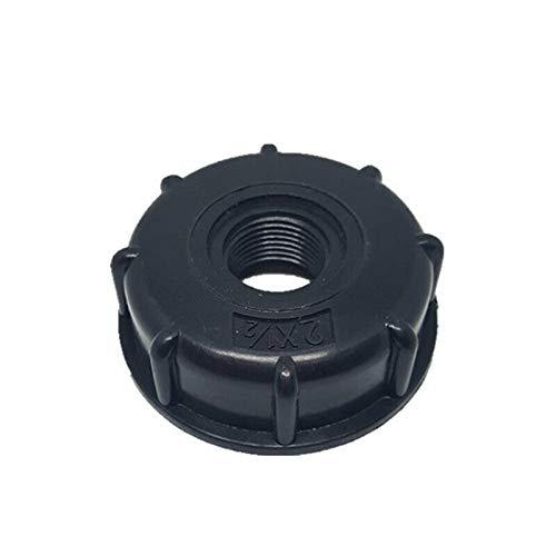 BE-TOOL IBC Adaptador de tanque de agua, 1 conector IBC de 1/2 pulgadas, salida de rosca gruesa de 60 mm para 1000 toneladas de barriles, barriles IBC, etc.