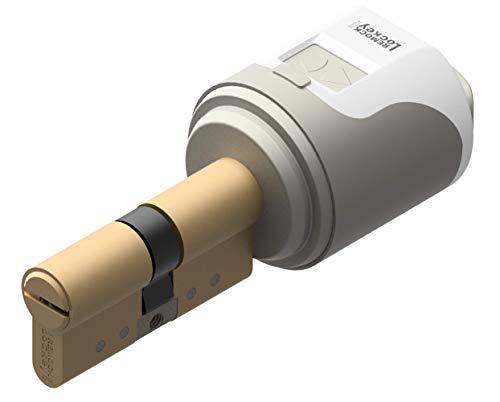 Cerradura electrónica inteligente Remock Lockey Magic con cilindro 30x30 Latón