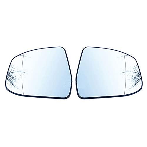 DENGZ Cristal De Espejo Retrovisor, Repuesto para Ford Focus 2012-2018 Mondeo 2008-2012, Retrovisor Lateral Calefactado, Antiniebla, Accesorios De Coche Izquierda Derecha
