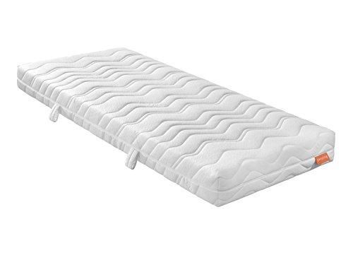 sleepling GROßES B - die recycelte Kaltschaummatratze mit ca. 4 cm Gelschaumauflage - 22 cm Höhe, Raumgewicht 50 in Härtegrad 2, 100 x 200 cm, weiß