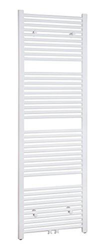 SixBros. R18 Badheizkörper (1750 x 450 mm, 804 Watt) - Heizkörper mit Handtuchhalter für das Bad - pulverbeschichtet – weiß