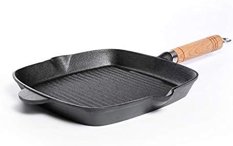 Poêles gril Fonte Steak Poêle rayé Steak poêlé surlonge spécial Pot plat Poêle Cuisine Cast Batterie de cuisine (Color : 24cm) 24cm Suit