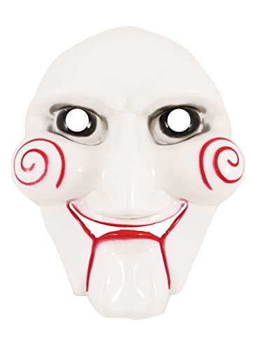 labreeze Scary Jigsaw gezichtsmasker mannen kwaad horror clown zaag halloween wit masker