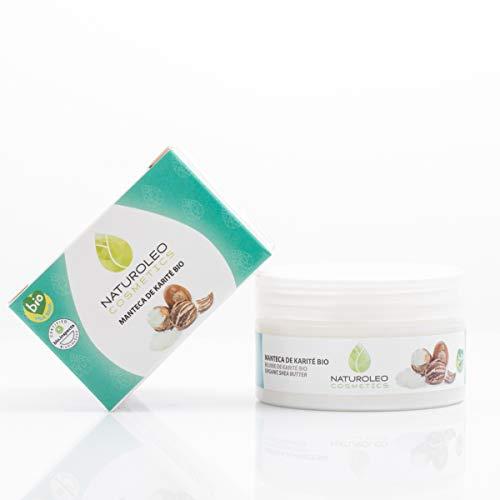 Naturoleo Cosmetics - Manteca Karité BIO - 100% Pura y Natural Ecológica Certificada - 100 ml