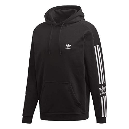 adidas Originals Men's Lock Up Hooded Sweatshirt, black, Medium