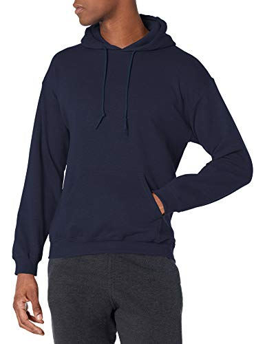 Gildan Men's Fleece Hooded Sweatshirt, Style G18500, Navy, Small