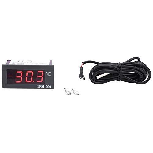 Aoca Termómetro LCD, indicador de Temperatura confiable Instalación Simple para refrigeradores para Uso Profesional para Uso General para vitrinas