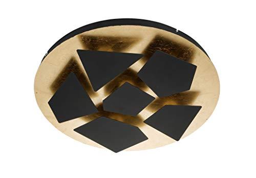 WOFI plafondlamp, kunststof, 34 W, MOIRA, zwart/goud
