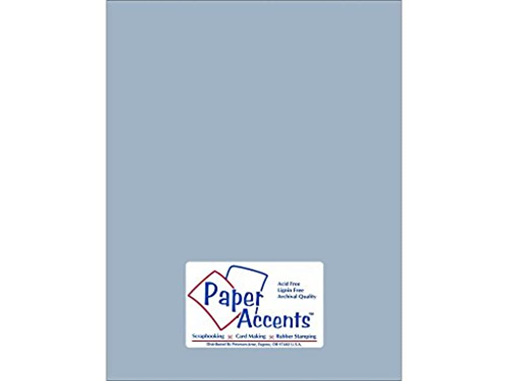 Accent Design Paper Accents Cdstk Smooth 8.5x11 74# Summer Rain