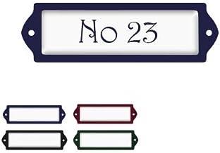 Naambord Emaille-look 2,5x8CM Met Witte Achtergrond , naamplaatje, naambordje brievenbus, huisnummer brievenbus, naambordj...