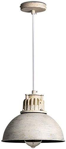 Waqihreu Lámpara de araña de Estilo Industrial de Loft Americano, lámpara de araña Redonda Retro, Metal Blanco, Adecuada para pasillos, Balcones, pasillos, Luces de Techo Ajustables