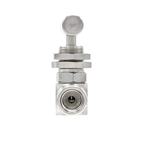 PIC Gauge NV-SS-1/4-HS180-FFPM 316 Stainless Steel Straight Needle Valve with Hydraulic Service Seat, Panel Mount, 1/4…