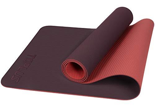 TOPLUS Yogamatte Gymnastikmatte Trainingsmatte Übungsmatte mit Tragegurt rutschfest gut für Anfänger bei Yoga für Fitness, Pilates & Gymnastik, 183 x 61 x 0,4 cm (Rosa&Pink)