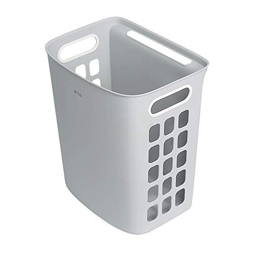 ZXL Vaxiujabath Wasmand met uitsparingen wasmand vuile kleding opslag badkamer slaapkamer kast sneller wasduur (kleur: wit, maat: 35x27x40 cm)