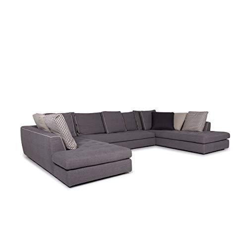 Roche Bobois Urban Fabric Corner Sofa Gray Incl. Cushion Sofa Sacha Lakic Couch