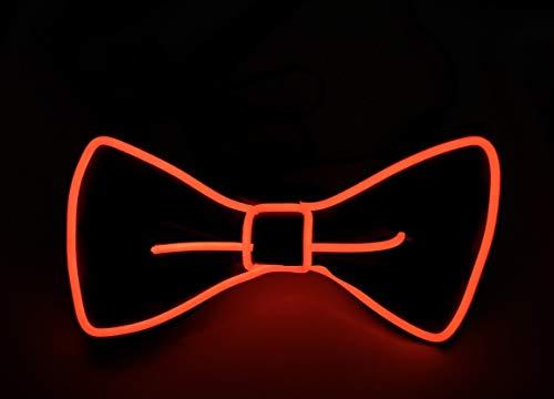 SOUTHSKY Weihnachten Leuchtend Krawatte Einstellbar mit EL Draht LED Aufhellen Leuchtende Fliege, Neuheit Neon Licht ,Blinker for Kostüm,Halloween, Cosplay, Party (Rot)